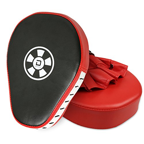 XGeek 2PCS Punch Mitts Boxing Focus Training Pads for Children Kids Men Women Karate Muay Thai