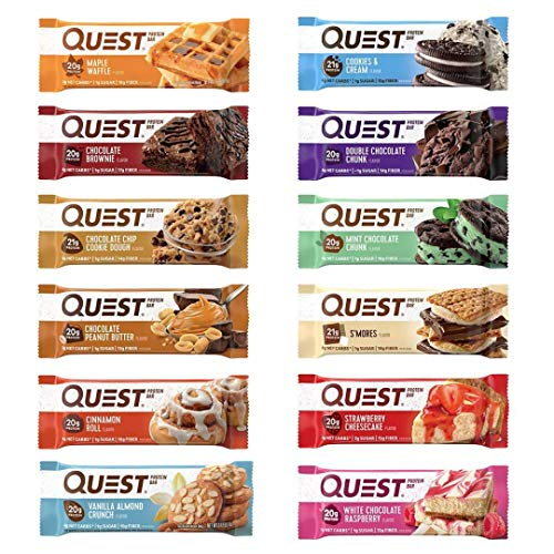 Quest Nutrition Protein Bar, Best Seller Variety Pack, High Protein, Low Carb, Gluten Free, 12 Count