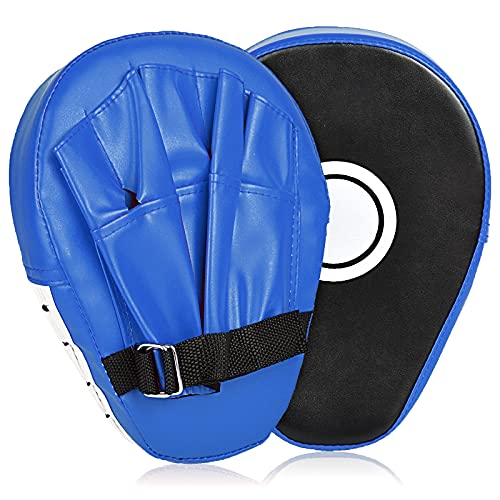 2PCS Boxing Mitts, MMA Punching Focus Mitts, Kickboxing Muay Thai Pads, Training Boxing Target Pads/Gloves, Martial Arts for Youth, Men & Women Gift (PU Leather)