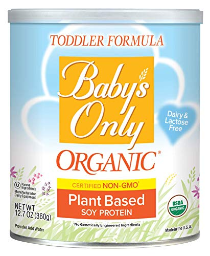Baby's Only Organic Soy Protein Toddler Formula, 12.7 Oz (Pack of 6) | Non GMO | USDA Organic | Clean Label Project Verified | Plant Based | Dairy & Lactose Free