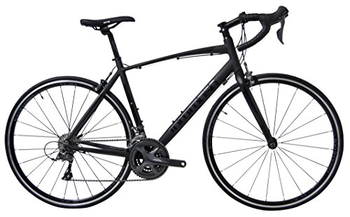 Tommaso Forcella - Holiday Special Pricing - Endurance Aluminum Road Bike, Carbon Fork, Shimano Claris R2000, 24 Speeds, Aero Wheels, Matte Black, Matte White
