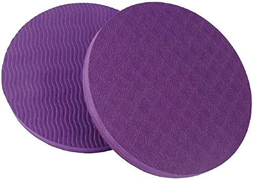 GoYonder Eco Yoga Workout Knee Pad Cushion Purple (Pack of 2)