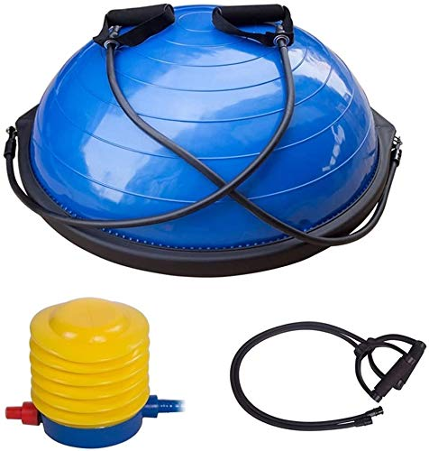 COLIBYOU Limited Edition Yoga Half Ball Dome Balance Trainer Fitness Strength Exercise Workout with Pump Blue