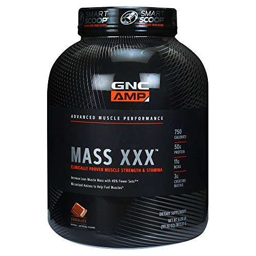 GNC Pro Performance AMP Amplified Mass XXX Weight Gainer, Chocolate, 6 Pound