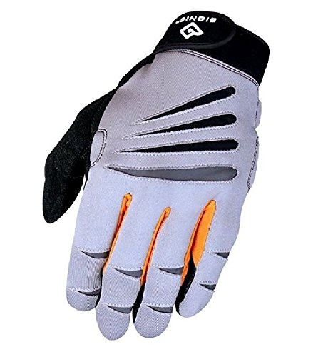 BIONIC Men's Cross-Training Full Finger Gloves, Gray/Orange, Medium