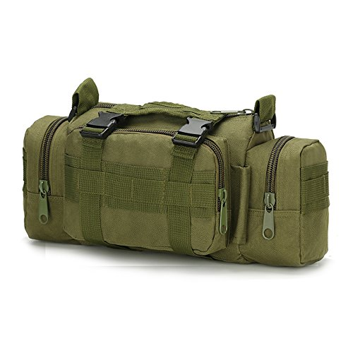 Fanny 3P Military Tactical Pouch Backpack Range Bags Molle attachments Pouch Small EDC Sling Pack Hand Carry Bag – Army Green