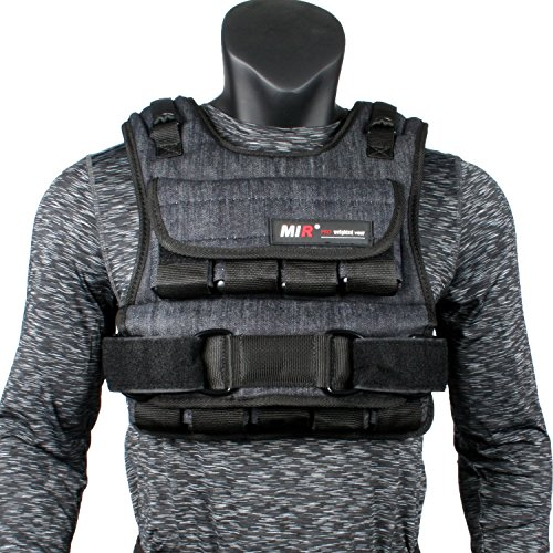 miR Air Flow Weighted Vest with Zipper Option 20lbs - 60lbs (50lbs, Standard) Black
