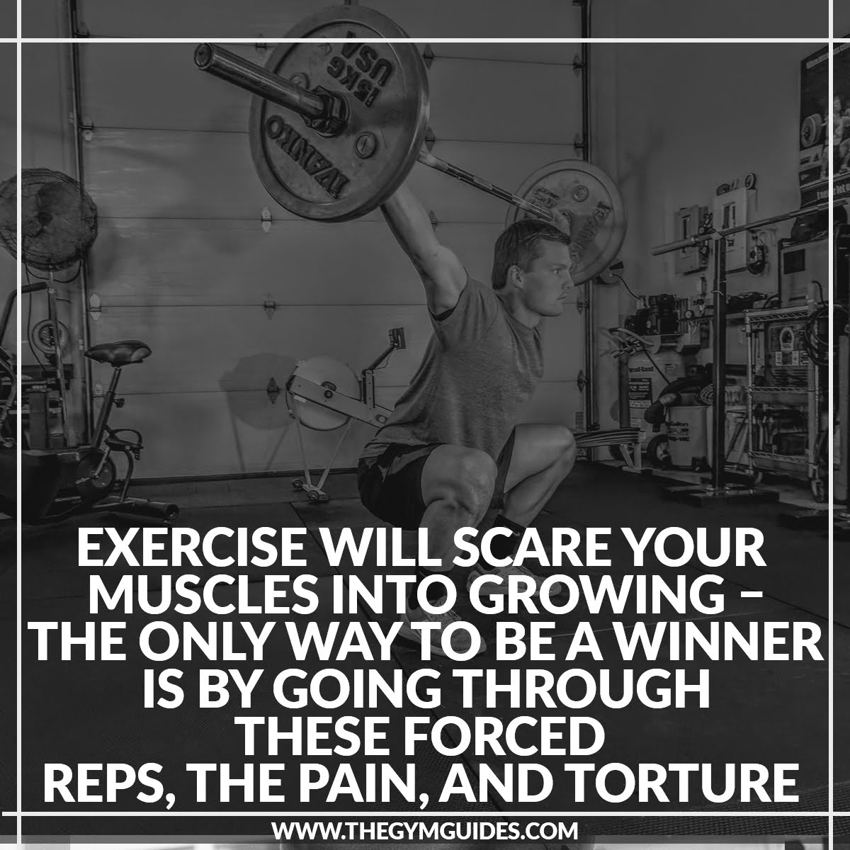Exercise will SCARE your Muscles into Growing – the only way to be a winner is by going through these forced reps, the pain, and torture