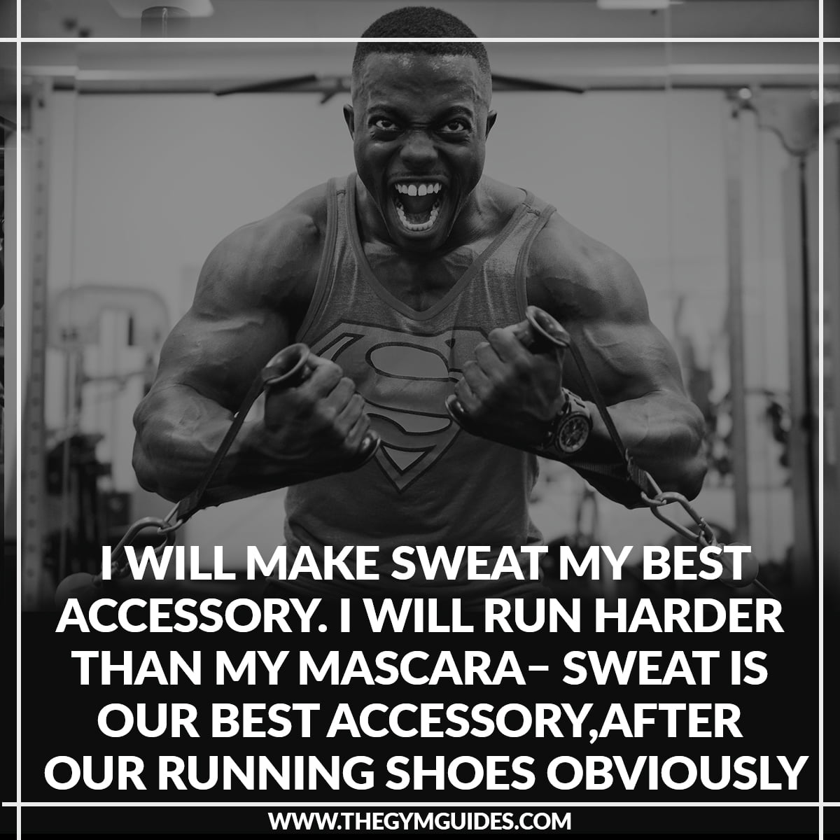 I will make Sweat my best Accessory. I will run harder than my Mascara – sweat is our best accessory, after our running shoes obviously!