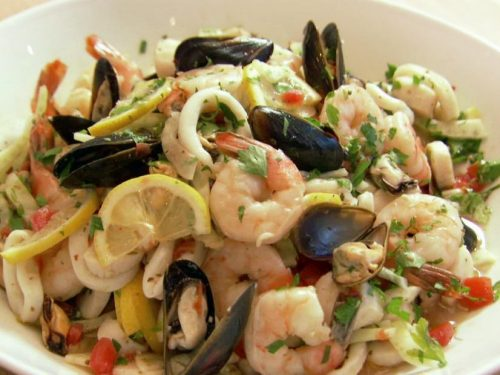 Seafood Salad With Garlic Oil